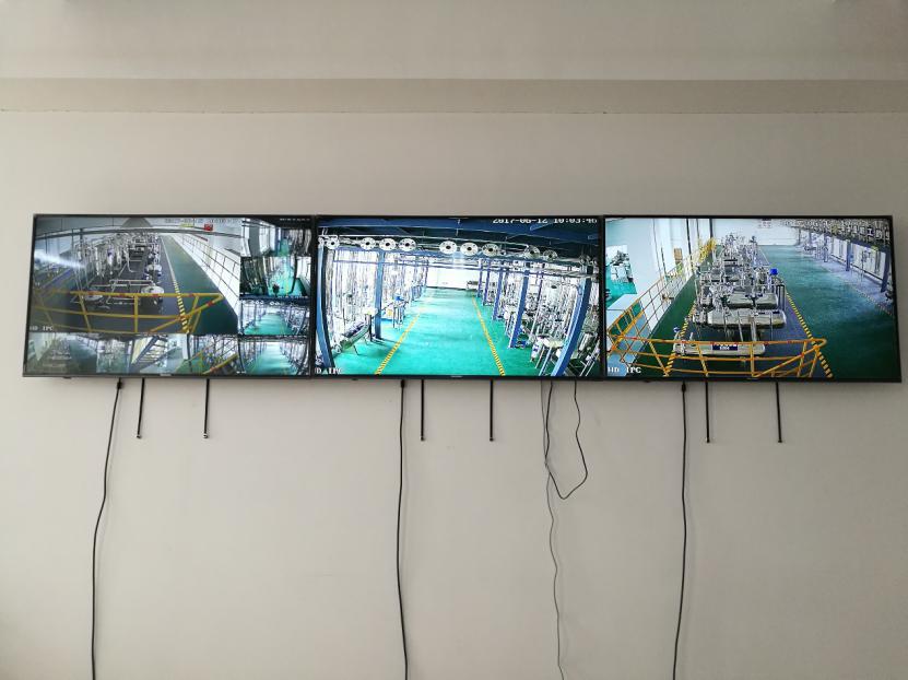 辽宁工业大学煤制甲醇仿真工厂中控室监控画面