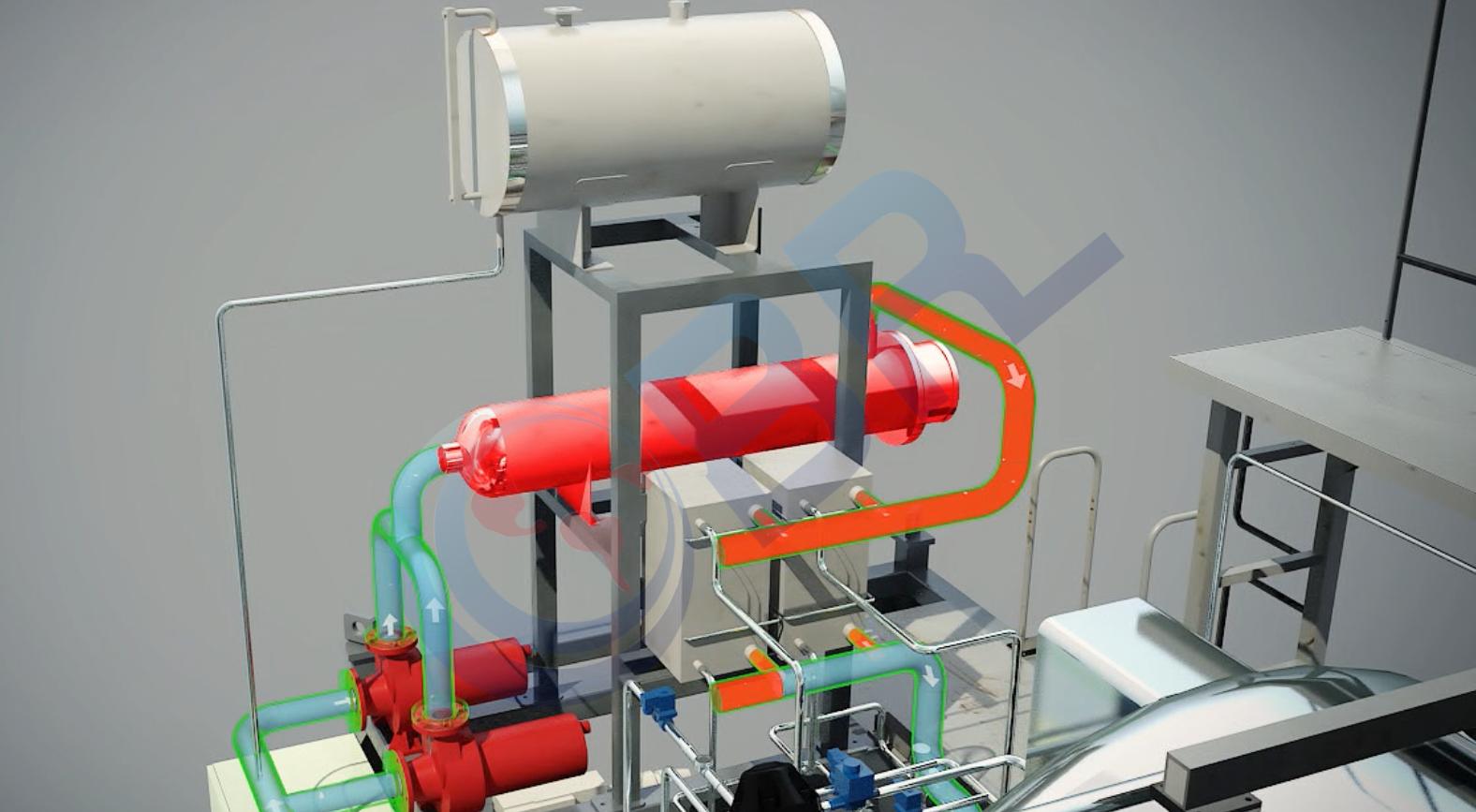 真空冷冻干燥机3D拆分虚拟仿真软件