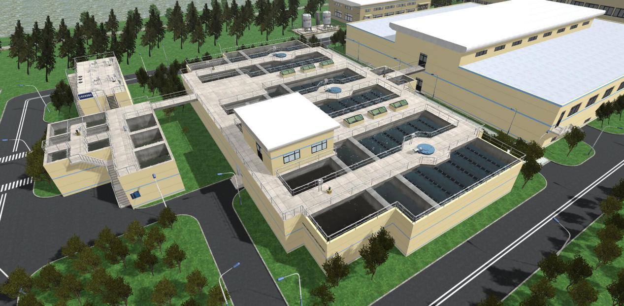 城市给水处理3D工厂