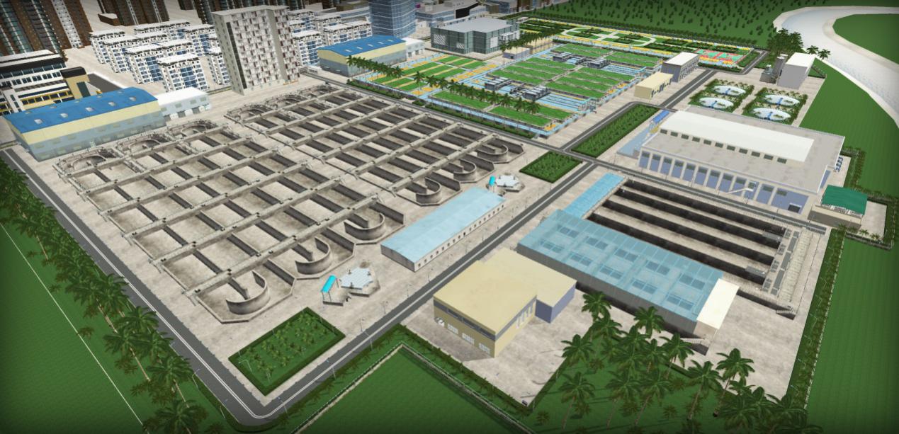 水处理3D虚拟仿真工厂