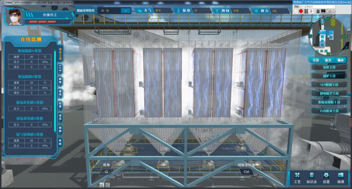 烟气脱硫脱硝3D仿真工厂